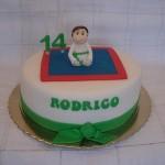 Bolo de Aniversário de judo(Foto:Divulgação)