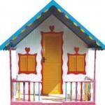 Com uma estética colorida, a casinha serve para meninos e meninas.