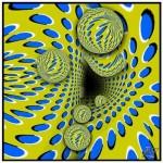 Ilusão de ótica dos movimentos do buraco (Foto:Divulgação)