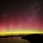 Aurora Boreal nas cores amarela e roxa (Foto:Divulgação)