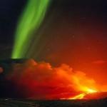 Aurora Boreal nas cores vermelha e verde (Foto:Divulgação)