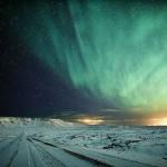 Aurora Boreal verde no amanhecer   (Foto:Divulgação)