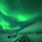 Aurora Boreal verde na neve  (Foto:Divulgação)