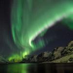 Aurora Boreal verde sobre o gelo (Foto:Divulgação)