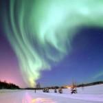 Aurora Boreal na cor verde  (Foto:Divulgação)