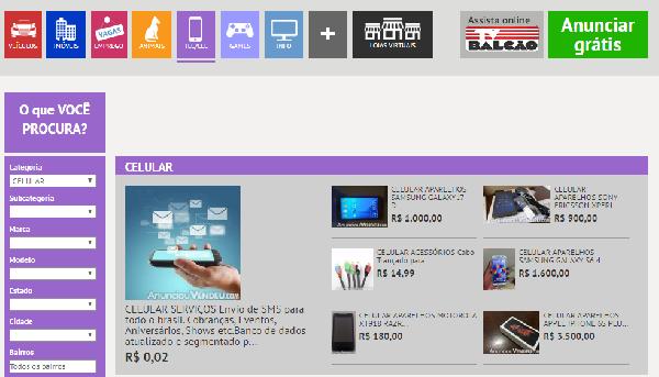 Você compra eletrônicos novos e usados no Balcão (Foto: Divulgação Jornal Balcão)