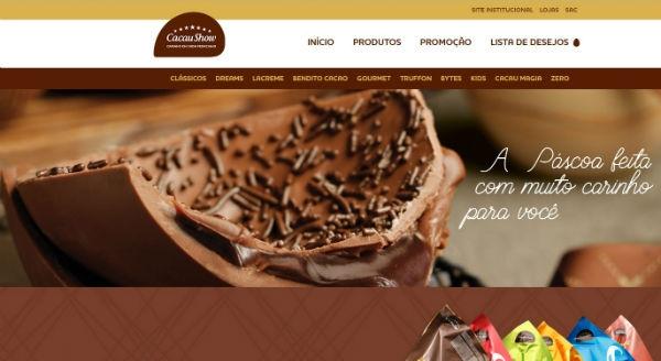 Site Cacau Show