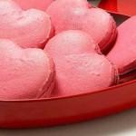 Macaron em formato de coração