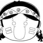 Dia do índio – Desenhos para colorir 5