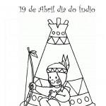 Dia do índio – Desenhos para colorir 7