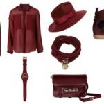 Cor Burgundy moda Inverno 2012