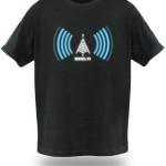 Camisetas de Nerds com sinal Wi-Fi