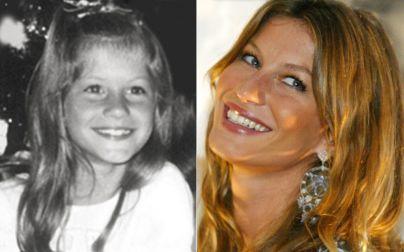 Celebridades na infância: Gisele Büdchen