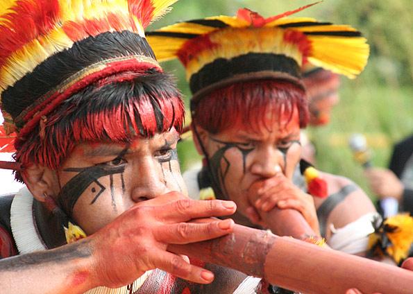 Índios da Tribo Xingu - Brasil