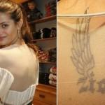 Isabeli Fontana tatuou o nome de seu filho Zion com asas