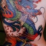 Tatuagem de Dragão colorida
