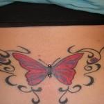 Tatuagem no Cóccix - Borboleta com Piercing