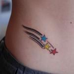 Tatuagem de Estrelas na Cintura