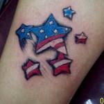 Tatuagem de Estrela Bandeira Americana