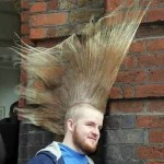Penteados estranhos - Leque