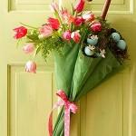 Arranjo de flores - Sombrinha