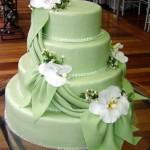 Bolo de Noiva Verde