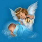 Anjo Protetor dos Bebês enquanto Dormem