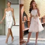 Vestidos de Noiva Curto com Cinto ou Faixa