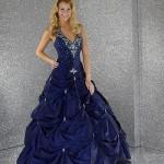 Vestido de Noiva - Azul Roial