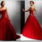 Vestido de Noiva - Vermelho Clássico
