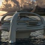 Utopia - Com heliponto que serve também de pista de dança para festas sob o luar.
