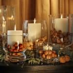 As velas são especiais e combinam com qualquer enfeite.