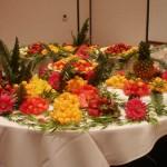 Eventos sociais também usam mesa de frutas para coquetéis.