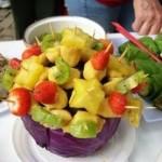 Não há necessidade de ser uma grande variedade de frutas para que a refeição fique deliciosa.