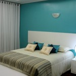 As cores aplicadas da maneira correta, deixam o quarto pequeno aconchegante e chique.