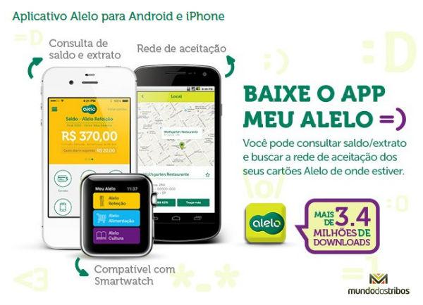 Pelo celular ou smartphone também é possível fazer a consulta do seu Visa Vale Alelo (Foto: Divulgação Alelo)