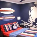 Se o jovem adora Surf, aposte neste tema para a decoração do quarto.