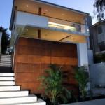 Conceito diferente de casa moderna com escadaria.