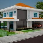 A sobreposição das cores dominam as fachadas das casas modernas.
