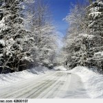 Paisagem invernal de Quebec, Canadá