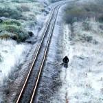 Frio no Uruguai congela até os trilhos do trem.