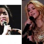 Shakira, depois do sucesso estrondoso na América Latina sua mudança ficou mais evidente.