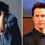 "Keanu Reeves, ator de ""Matrix"" posando de modelo."