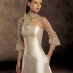 Vestido de noiva com bolero nupcial.