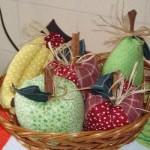 Frutas de tecido
