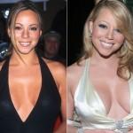 Mariah Carey depois de ter colocado implante de silicone em 2005.