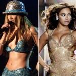 """""""Beyoncé"""" exibe seios siliconados e , mais do que, perfeitos."""