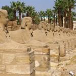 Avenida de esfinges que liga Karnak a Luxor.