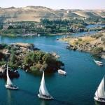 O Rio Nilo é um dos lugares mais visitados como ponto turístico do Egito.