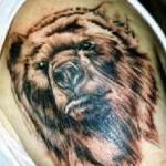 Tatuagem de urso no antebraço. (Foto: divulgação)